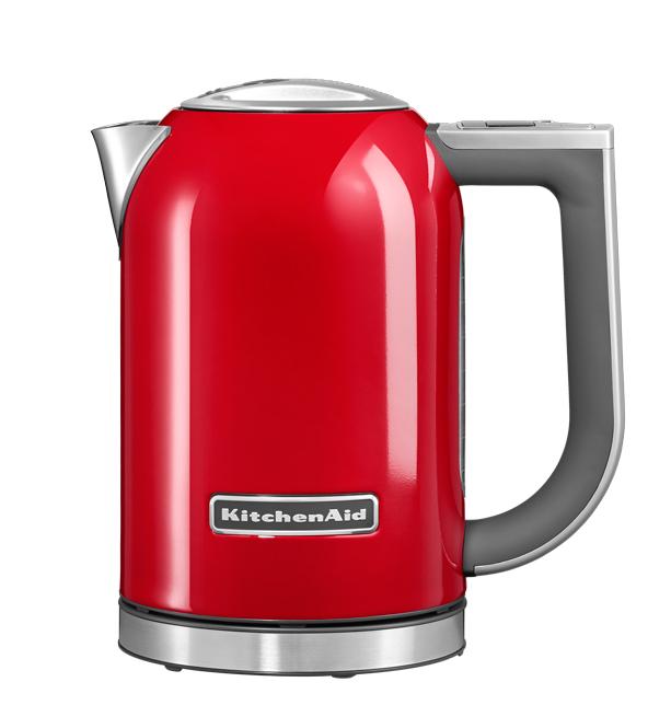 Чайник электрический, 1.7 л, красный, 5KEK1722, KitchenAidЭлектрочайники 1,7 л.<br><br>