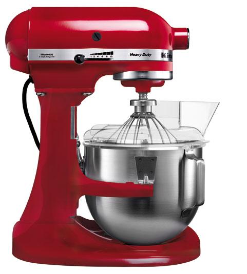 Миксер профессиональный, Heavy Duty, чаша 4.8 л, красный, 5KPM5E, KitchenAidМиксеры планетарные профессиональные<br><br>