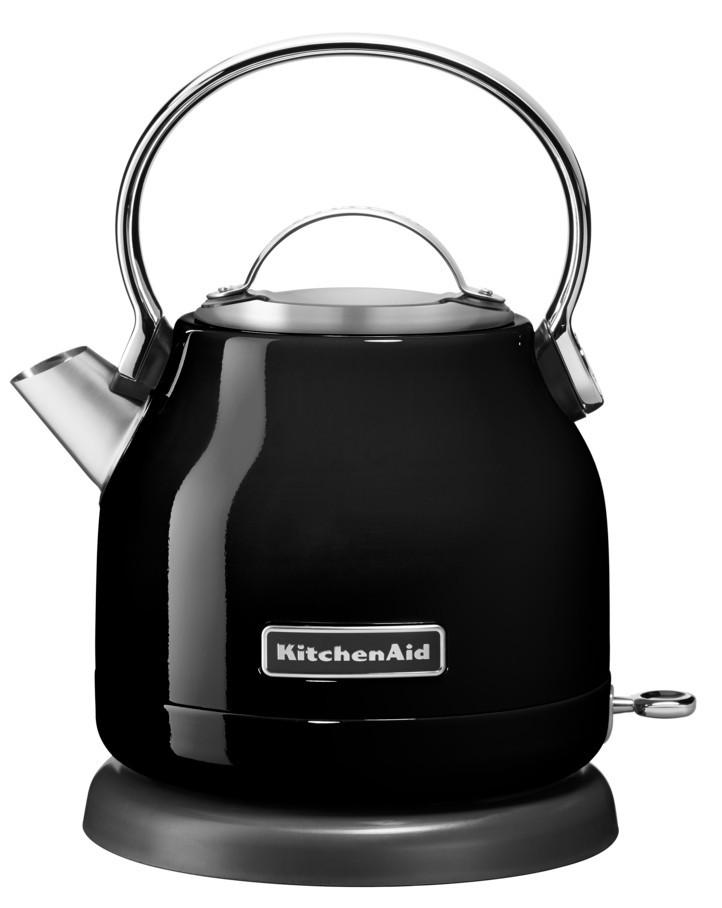 Чайник электрический, 1.25 л, черный, 5KEK1222EOB, KitchenAidЭлектрочайники 1,25 л.<br><br>