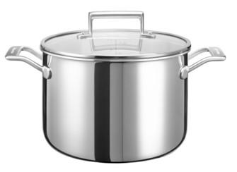 Кастрюля с крышкой, 7.57 л, KC2C80SCST, KitchenAid3-слойная посуда из нержавеющей стали<br>Кастрюля KitchenAid большого объёма будет незаменима для варки овощей (моркови, кукурузы, свёклы), целой птицы, мяса для студня.&#13;<br>Изготовлена из трёх слоёв металла: сердцевина кастрюли из алюминия, который отличается высокой теплопроводностью, внешняя и внутренняя стенки – из нержавеющей стали.&#13;<br>&#13;<br>Подходит для всех видов плит&#13;<br>Куполообразная крышка из закалённого стекла&#13;<br>Внутренние метки уровня жидкости для точного следования рецепту&#13;<br>Для использования в духовом шкафу&#13;<br>Сварные рукоятки&#13;<br>Разрешается мыть в посудомоечной машине&#13;<br>&#13;<br><br>