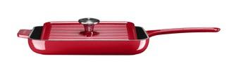 Чугунная сковорода-гриль 25х25 см с прессом 20х20 см, KCI10GPER, красная, KitchenAidЧугунная посуда<br>Чугунная сковорода-гриль с прессом классического красного цвета, уже ставшего визитной карточкой KitchenAid, окажется очень удачным приобретением для вашей кухни. С её помощью вы приготовите множество вкусных и полезных блюд:&#13;<br>&#13;<br>Ароматные овощи-гриль&#13;<br>Горячие бутерброды&#13;<br>Сочные мясные и рыбные стейки&#13;<br>Цыплёнка табака с хрустящей корочкой&#13;<br>&#13;<br><br>