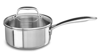 Сотейник с крышкой, 1.42 л, KC2T15EHST, KitchenAid3-слойная посуда из нержавеющей стали<br>Сотейник KitchenAid из нержавеющей стали с крышкой объёмом 1,4 л удобно использовать для приготовления соусов, нескольких порций мяса или супа. Отлично подойдёт для разогрева пищи. Кроме того, небольшой объём посуды удобен для приготовления отдельного обеда или ужина для самых маленьких членов вашей семьи.&#13;<br>Особая технология Tri-Ply, с помощью которой изготовлен сотейник, подразумевает наличие 3-х слоев металла – внешнего и внутреннего из нержавеющей стали и алюминиевой начинки, которые обеспечивают наилучшую теплопроводность.&#13;<br>&#13;<br>Для всех видов плит&#13;<br>Внутренние метки уровня жидкости&#13;<br>Разрешается мыть в посудомоечной машине&#13;<br>Для использования в духовом шкафу&#13;<br>Сварные рукоятки&#13;<br>&#13;<br><br>
