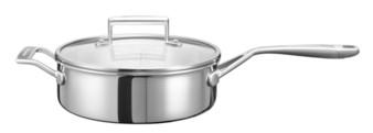 Сотейник с крышкой, 3.31 л, 5 слоев, нержавеющая сталь, KC2C35EHST, KitchenAid5-х слойная посуда из нержавеющей стали<br>Сотейник KitchenAid из нержавеющей стали объёмом 3,3 л &amp;ndash; универсальная посуда, которая пригодится на любой кухне. Невысокие стенки и большой диаметр дна удобны для приготовления блюд, которые нужно постоянно перемешивать: ризотто, рагу, тушеные овощи, суп-пюре. Также подойдёт для приготовления варенья.&#13;<br>Сотейник изготовлен по современной технологии 3-Ply, дно и стенки состоят из 5 слоёв металла: меди, алюминия и нержавеющей стали. Подобная конструкция-&amp;laquo;сэндвич&amp;raquo; обеспечит быстрый и равномерный нагрев, а ваша пища никогда не пригорит. &amp;nbsp;&#13;<br>&#13;<br>Для всех видов плит&#13;<br>Внутренние метки уровня жидкости&#13;<br>Можно мыть в посудомоечной машине&#13;<br>Для использования в духовом шкафу&#13;<br>Сварные рукоятки&#13;<br>&#13;<br>&amp;nbsp;<br>