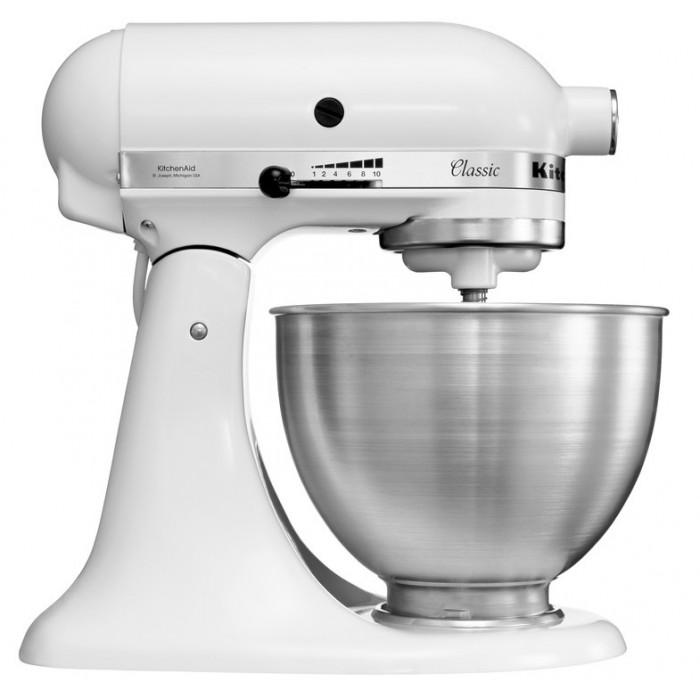 Миксер бытовой Classic, 4,28 л., белый, 5K45SSEWH, KitchenAidМиксеры планетарные кухонные 4.8 л<br><br>