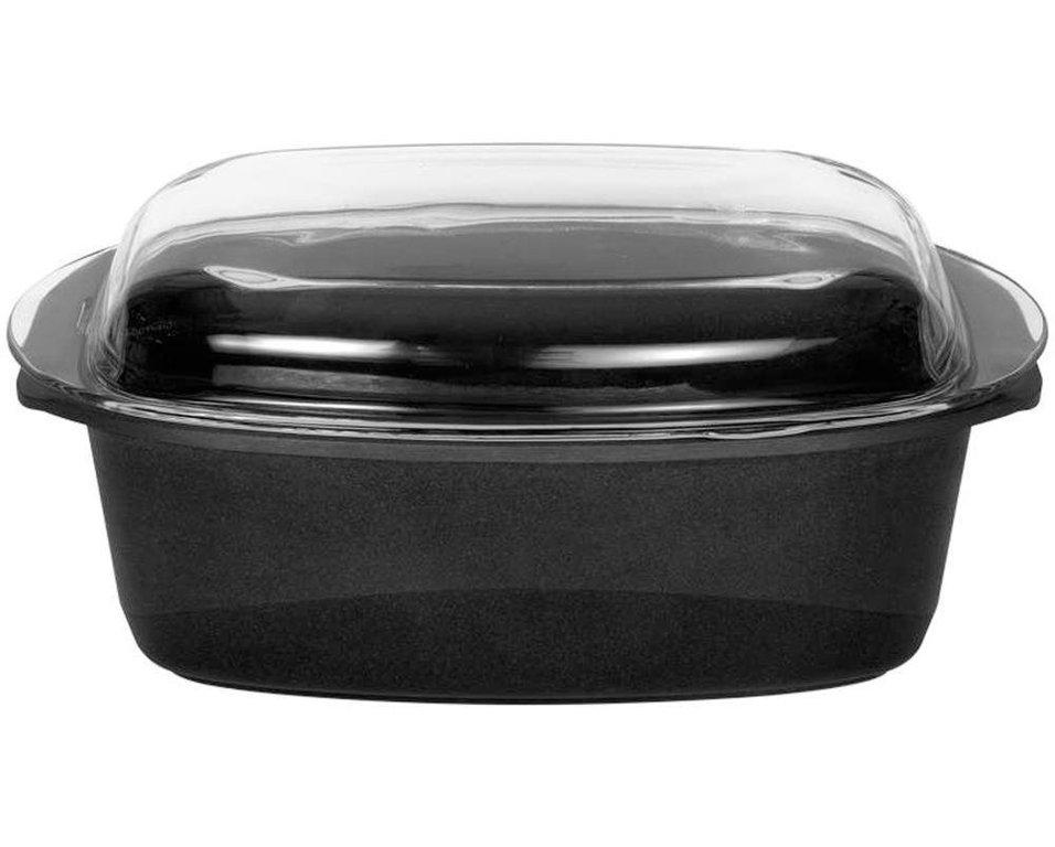 Жаровня прямоугольная со стеклянной крышкой, глубокая, 33х21 см, серия GIGANT Newline INDUCTION, BAFСерия GIGANT Newline INDUCTION<br>Характеристики:&#13;<br>&#13;<br>Толщина дна: 10 мм&#13;<br>Глубина: 10 см&#13;<br>Внутреннее покрытие: микрокерамическое покрытие микро-BAF ® 4-кратной защиты от износа&#13;<br>Подходит для всех типов плит, включая индукционные&#13;<br>Можно мыть в посудомоечной машине.&#13;<br>&#13;<br>Преимущества:&#13;<br>&#13;<br>Высокая износостойкость&#13;<br>Превосходная теплопроводность и теплоемкость&#13;<br>BAF-microCERAMIC ®: единственное в своем роде объединение высококачественных сверхпрочных керамических материалов - таких же прочных как алмаз - с особой антипригарной системой компонентов&#13;<br>Великолепные антипригарные свойства&#13;<br>Можно готовить практически без масла&#13;<br>Ручка выполнена из новой комбинации высококачественной стали и пластмассы - выдерживает температуру до 260 ° C.&#13;<br><br>