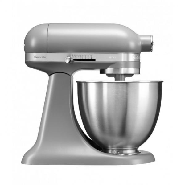 Миксер планетарный MINI, чаша 3,3 л., серый матовый, 5KSM3311XEFG, KitchenAidМиксеры планетарные кухонные MINI  3.3 л.<br><br>