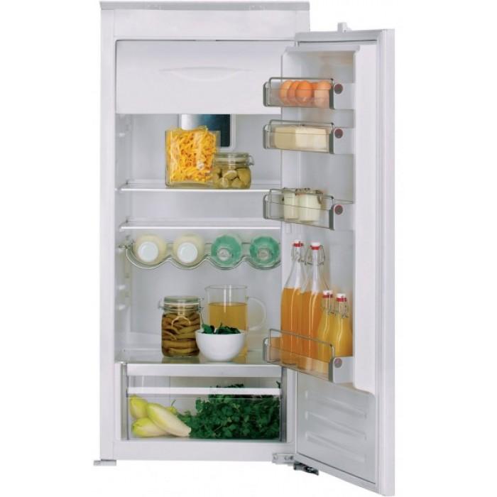 Холодильник KCBMR 12600, KitchenAidХолодильники<br>&#13;<br>Тип: встраиваемый&#13;<br>1-камерный&#13;<br>Класс энергоэффективности: А++&#13;<br>Дверной упор: справа&#13;<br>Хладагент: R600a&#13;<br>Тип подсветки: светодиоды&#13;<br>Тип дисплея: кнопки&#13;<br>Индикация открытой двери&#13;<br>Количество температурных звезд в маркировке: 4&#13;<br>Полезный объем холодильного отделения, л: 172&#13;<br>Общий объем холодильного отделения, л: 173&#13;<br>Полезный объем морозильного отделения, л: 18&#13;<br>Общий объем морозильного отделения, л: 18&#13;<br>Система навешивания дверей: скользящая&#13;<br>Материал полок: стекло&#13;<br>Регулируемые полки на двери: 4&#13;<br>Регулируемые полки в холодильном отделении: 4&#13;<br>Полки в холодильном отделении: 5&#13;<br>Полка для бутылок&#13;<br>Разделитель бутылок&#13;<br>Лоток для яиц&#13;<br>Лоток для кубиков льда&#13;<br>Контроль уровня влажности&#13;<br>Выдвижные ящики для овощей&#13;<br><br>