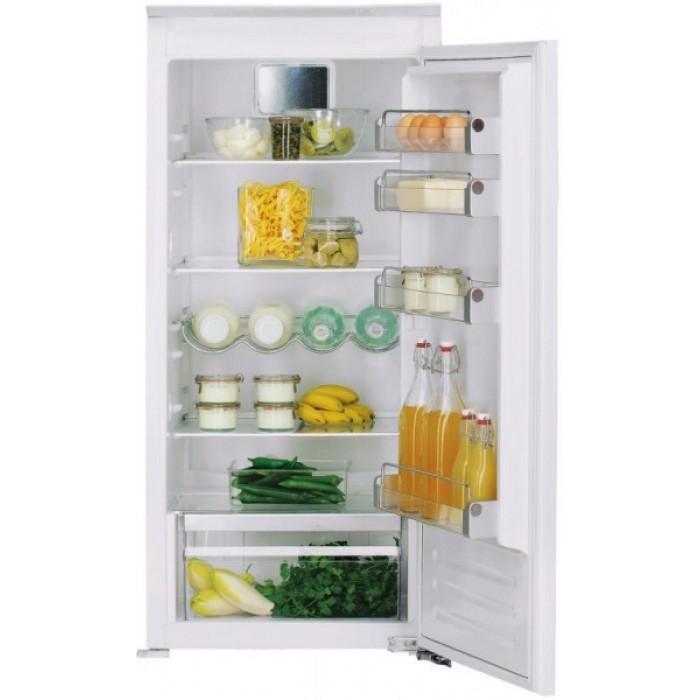 Холодильник KCBNR 12600, KitchenAidХолодильники<br>&#13;<br>Вид: холодильник безморозильника&#13;<br>Тип: встраиваемый&#13;<br>1-камерный&#13;<br>Класс энергоэффективности: А++&#13;<br>Уровень шума: 35&#13;<br>Дверной упор: справа&#13;<br>Хладагент: R600a&#13;<br>Тип подсветки: светодиоды&#13;<br>Тип дисплея:кнопки&#13;<br>Индикация открытой двери&#13;<br>Система Pro Fresh&#13;<br>Общий объем холодильного отделения, л:210&#13;<br>Полезный объем холодильного отделения, л: 209&#13;<br>Система навешивания дверей: скользящая&#13;<br>Материал полок: стекло&#13;<br>Регулируемые полки на двери: 4&#13;<br>Регулируемые полки в холодильном отделении: 4&#13;<br>Полки в холодильном отделении: 5&#13;<br>Полка для бутылок&#13;<br>Разделитель бутылок&#13;<br>Лоток для яиц&#13;<br>Лоток для кубиков льда&#13;<br>Контроль уровня влажности&#13;<br>Выдвижные ящики для овощей: 1&#13;<br>Выдвижные ящики в морозильном отделении: 3&#13;<br>Короб для сыра&#13;<br><br>