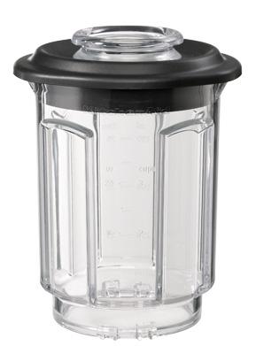 Дополнительный стакан для блендера 0,75 л., KitchenAidБлендеры стационарные Artisan<br>Дополнительный  стакан для блендера Kitchen Aid поможет вам приготовить еще больше разнообразных блюд и напитков. Вы можете использовать его для приготовления небольших порций или в качестве дополнительной емкости, если приходится использовать блендер для измельчения разных ингредиентов.&#13;<br>&#13;<br>Изготовлен из стеклопластика, прочного, долговечного, безопасного матерала&#13;<br>Устойчив к механическим повреждениям и высокой температуре, не окрашивается&#13;<br>Снабжен крышкой-воронкой, для удобного добавления масла и других жидкостей непосредственно во время смешивания&#13;<br>&#13;<br>Параметры:&#13;<br>&#13;<br>Объем 0,75 л&#13;<br>Глубина12.4 см&#13;<br>Высота 17.3 см&#13;<br>Ширина 14.2 см&#13;<br>Вес 0.46 кг.&#13;<br><br>