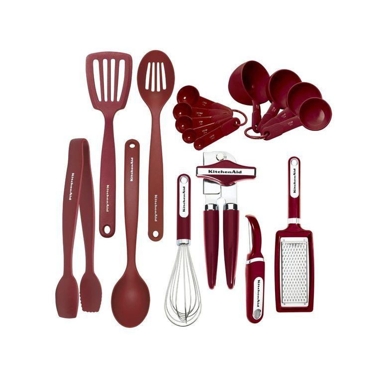 Набор кухонных инструментов, 17 предметов, в подарочной упаковке, KitchenAidКухонные инструменты<br><br>