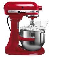 Миксер профессиональный, Heavy Duty, чаша 4.8 л, красный, 5KPM5E, KitchenAid, фото 1