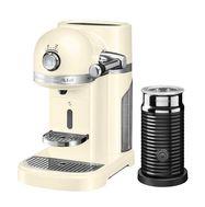 Кофеварка капсульная Artisan Nespresso + Aeroccino, кремовая, 5KES0504EAC, KitchenAid, фото 1