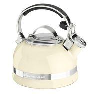 Чайник наплитный классический со свистком 1,89 л, кремовый, KTEN20SBAC, KitchenAid, фото 1