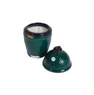 Свеча с цитронеллой, зелёный керамический подсвечник в форме гриля с крышкой, Big Green Egg, фото 1
