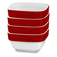 Набор керамических чаш для запекания (4 шт.), 0,22 л, красный, KBLR04RMER, KitchenAid, фото 1