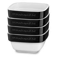 Набор керамических чаш для запекания (4 шт.), 0,22 л, черный, KBLR04RMOB, KitchenAid, фото 1