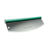 Нож для пиццы, полумесяц, зелёная ручка, Big Green Egg, фото 1