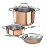 Набор посуды из 3 предметов, медь, KitchenAid, фото 1