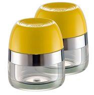 Баночки для хранения специй, 2 шт., желтые, Wesco, фото 1