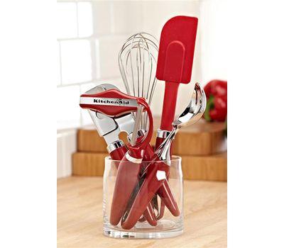 Ложка для мороженого красная, KG117ER, KitchenAid, фото 2