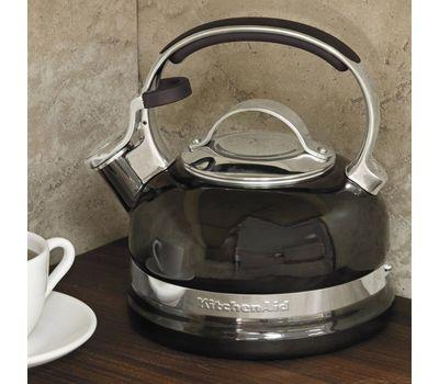 Чайник наплитный классический со свистком 1,89 л, черный, KTEN20SBOB, KitchenAid, фото 5