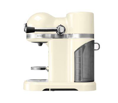Кофеварка капсульная Artisan Nespresso + Aeroccino, кремовая, 5KES0504EAC, KitchenAid, фото 3