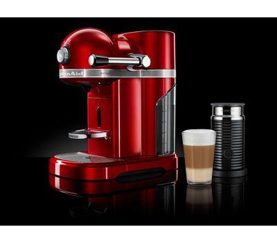 Кофеварка капсульная Artisan Nespresso + Aeroccino, морозный жемчуг, 5KES0504EFP, KitchenAid, фото 8