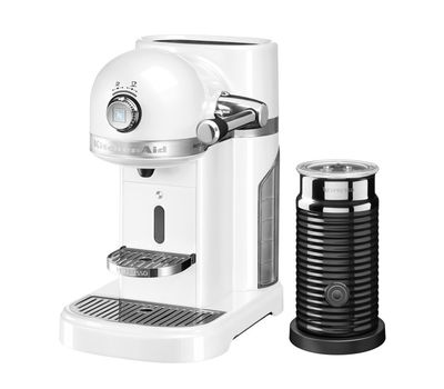 Кофеварка капсульная Artisan Nespresso + Aeroccino, морозный жемчуг, 5KES0504EFP, KitchenAid, фото 1
