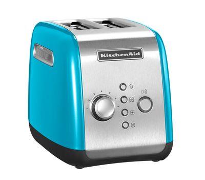 Тостер на 2 хлебца, голубой кристалл, 5KMT221, KitchenAid, фото 1