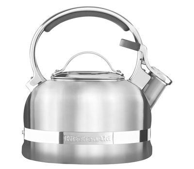 Чайник наплитный классический со свистком 1,89 л, стальной, KTST20SBST, KitchenAid, фото 2