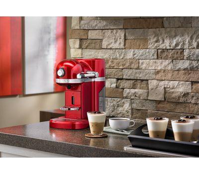 Кофеварка капсульная Artisan Nespresso, серебряный медальон, 5KES0503EMS, KitchenAid, фото 8