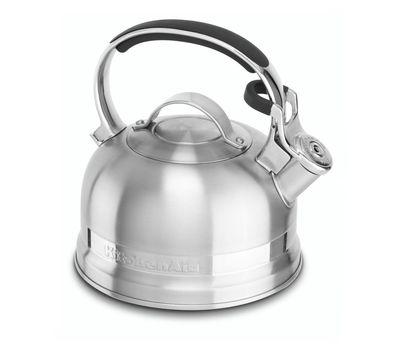 Чайник наплитный классический со свистком 1,89 л, стальной, KTST20SBST, KitchenAid, фото 1