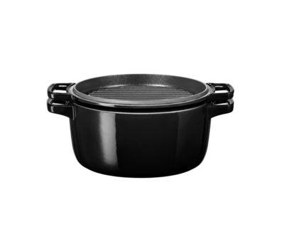 Кастрюля чугунная, черная, 5.7 л, KCPI60CROB, KitchenAid, фото 2