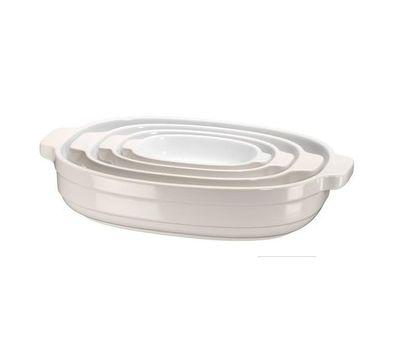 Набор керамических кастрюль (4 шт.), 0,5/0,9/1,8/3,3 л, кремовый, KBLR04NSAC, KitchenAid, фото 1