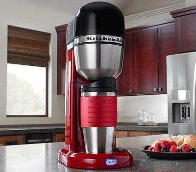 Кофеварка персональная, кремовая, 5KCM0402EAC, KitchenAid, фото 4