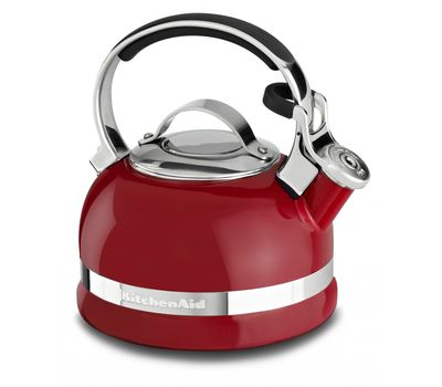 Чайник наплитный классический со свистком 1,89 л, красный, KTEN20SBER, KitchenAid, фото 1