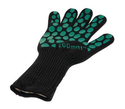 Перчатка-прихватка защитная, чёрная, арамид+силикон+хлопок, BBQ, Big Green Egg, фото 1