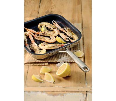 Сковорода-гриль с антипригарным покрытием, 25х25 см, нержавеющая сталь, KC2T10NRST, KitchenAid, фото 2
