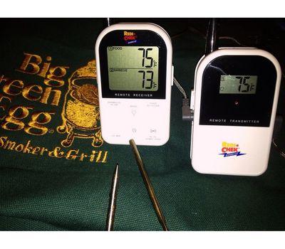 Термометр дистанционный беспроводной с 2-мя датчиками, Big Green Egg, фото 2