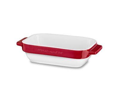 Набор керамических чаш прямоугольных для запекания (2 шт.), 0,45 л, красный, KBLR02MBER, KitchenAid, фото 3