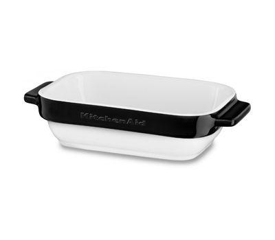 Набор керамических чаш прямоугольных для запекания (2 шт.), 0,45 л, черный, KBLR02MBOB, KitchenAid, фото 2