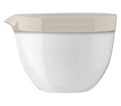 Набор круглых керамических чаш для смешивания (3 шт.), 1,4/1,9/2,8/ л, кремовый, KBLR03NBAC, KitchenAid, фото 3
