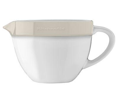 Набор круглых керамических чаш для смешивания (3 шт.), 1,4/1,9/2,8/ л, кремовый, KBLR03NBAC, KitchenAid, фото 5