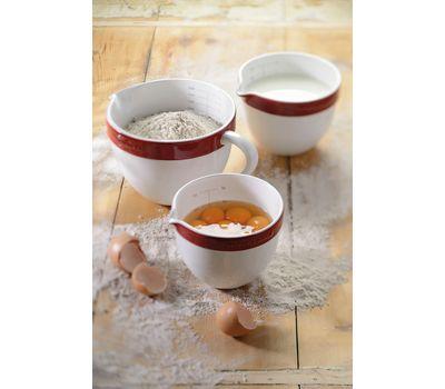 Набор круглых керамических чаш для смешивания (3 шт.), 1,4/1,9/2,8 л, красный, KBLR03NBER, KitchenAid, фото 2