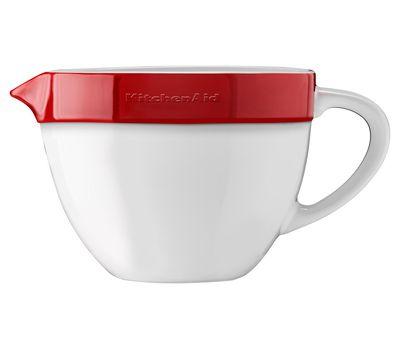 Набор круглых керамических чаш для смешивания (3 шт.), 1,4/1,9/2,8 л, красный, KBLR03NBER, KitchenAid, фото 5