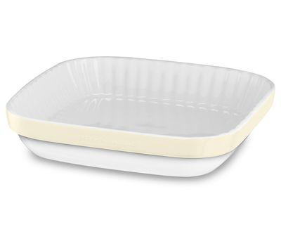 Керамическая форма для запекания, 26x26 см, кремовая, KBLR09AGAC, KitchenAid, фото 1