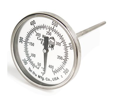 Термометр штатный, круглый, шкала +50/+400С, D51мм, Big Green Egg, фото 1