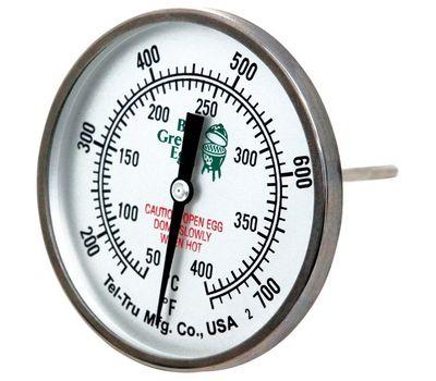 Термометр штатный, круглый, шкала +50/+400С, D76мм, Big Green Egg, фото 1