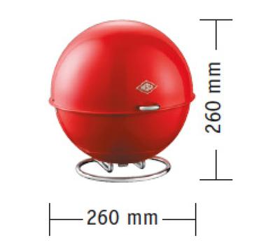 Емкость-шар SUPERBALL, 26х26 см, красная, Wesco, фото 2