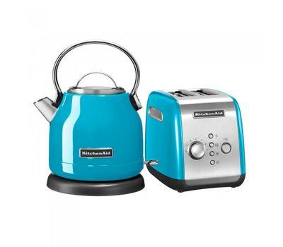 """Набор """"Завтрак 1"""" тостер 5KMT221E + чайник 5KEK1222E 1,25 л., голубой кристалл, KitchenAid, фото 1"""